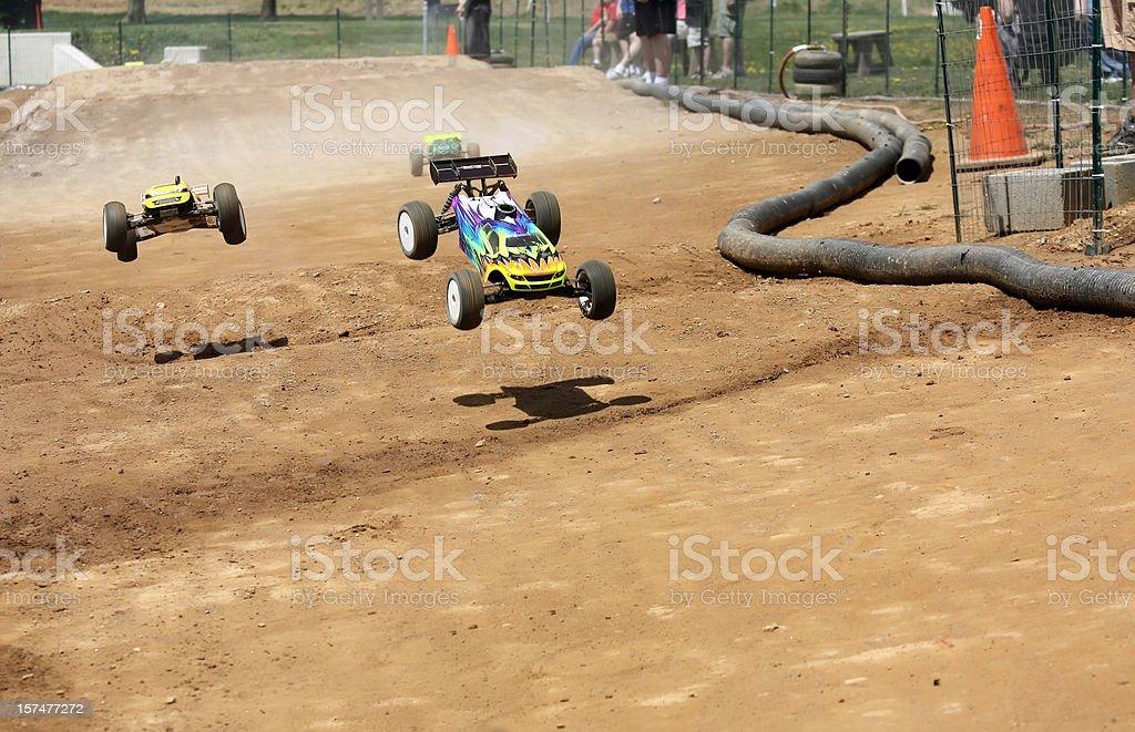 Radio Controlled Off-Road Car Racing stock photo