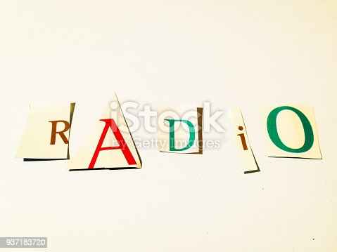 812461124 istock photo Radio - Cutout Words Collage Of Mixed Magazine Letters with White Background 937183720