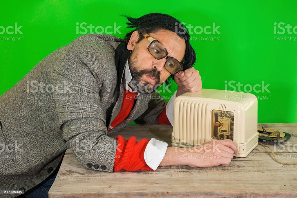 Radio Dumb on Table stock photo
