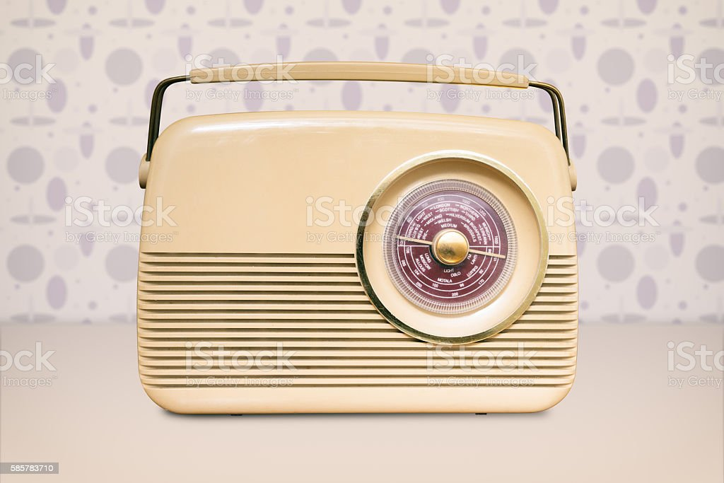 Radio From 1950s Retro Styling in Cream Colour stock photo
