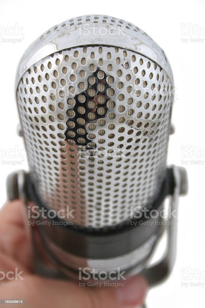 Radio live royalty-free stock photo