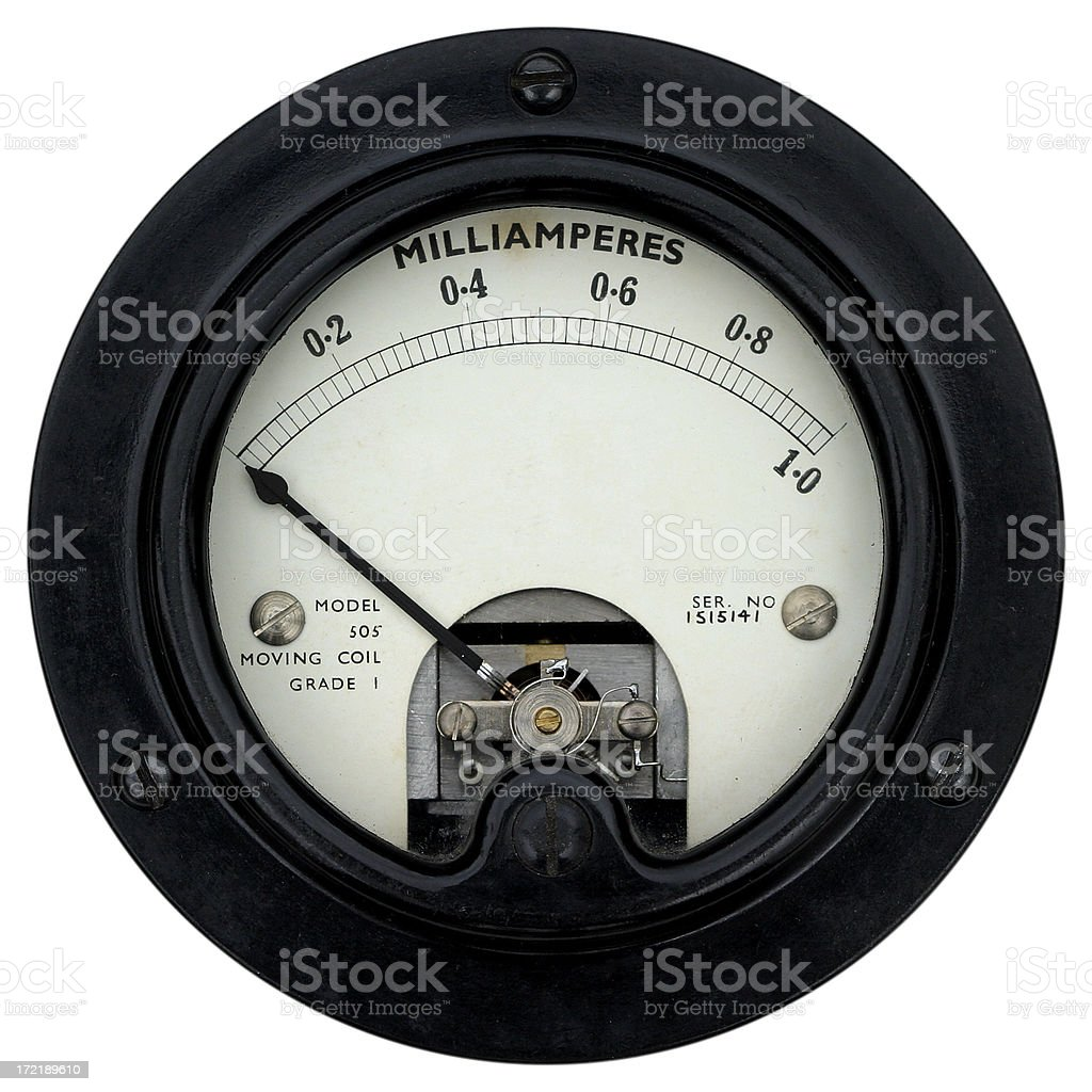 Radio meter - 1940/50s royalty-free stock photo
