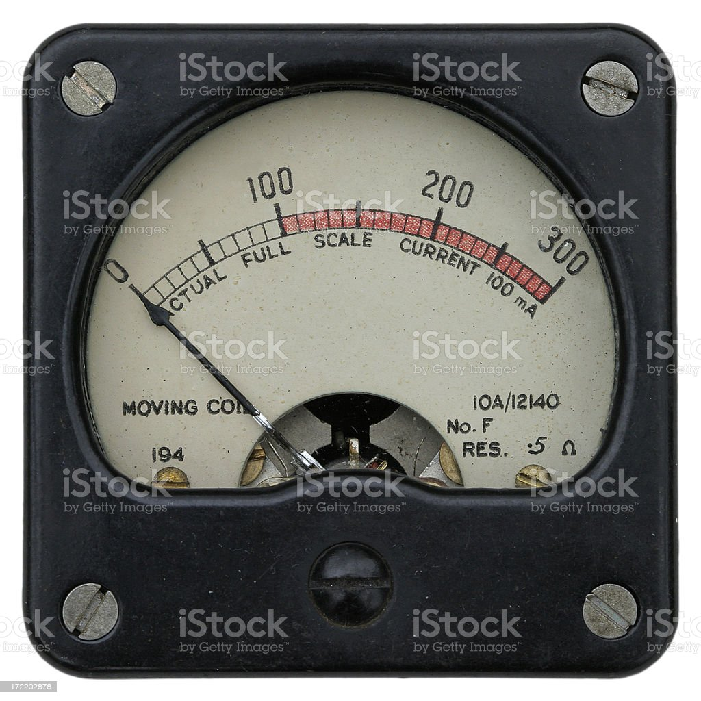 Radio meter - 1940/50s stock photo
