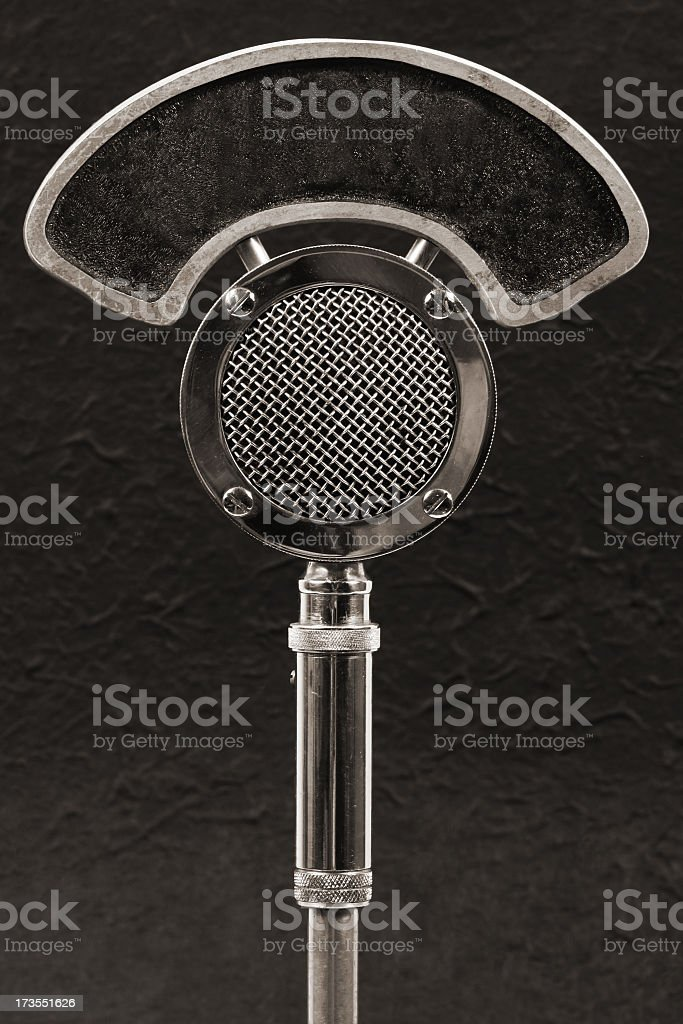 Radio Microphone stock photo