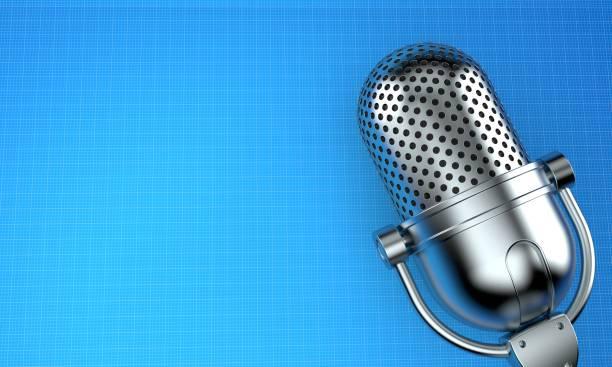 radio-microfoon - podcast stockfoto's en -beelden
