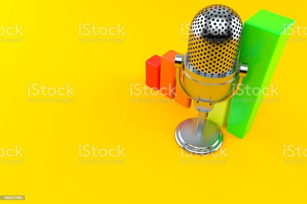 Microphone de radio avec graphique - Photo de Amélioration libre de droits