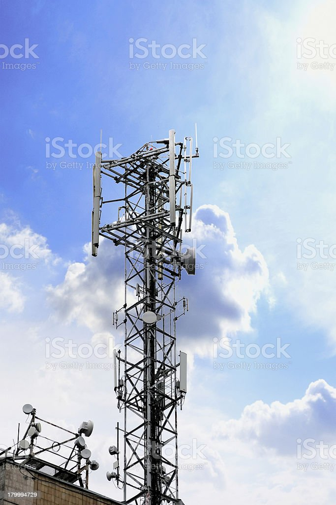 Radio Relay Link, Mobile Base Station. royalty-free stock photo