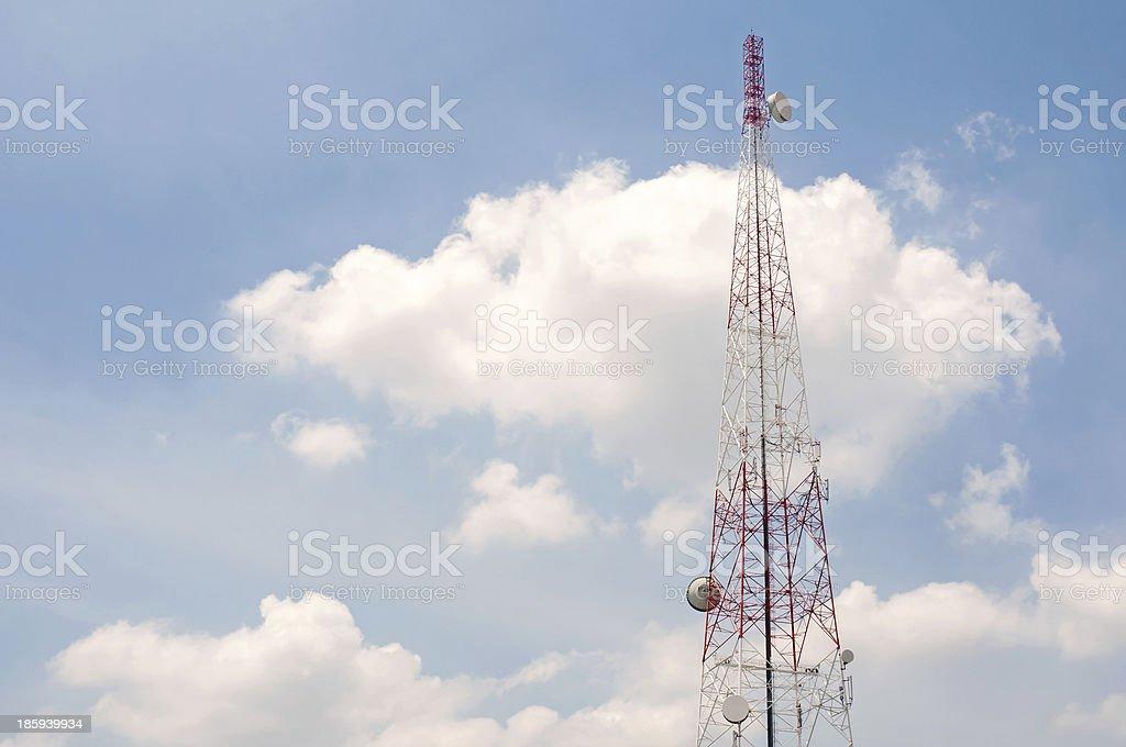 Radio Relay Link, Mobile Base Station royalty-free stock photo