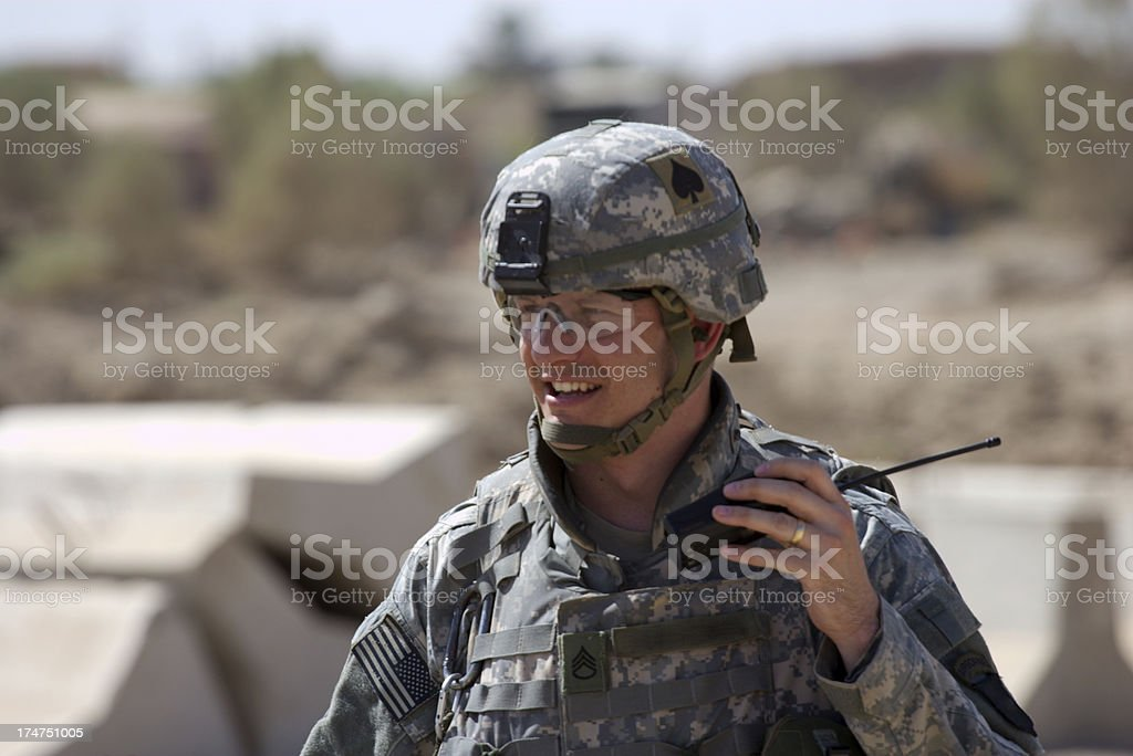 Radio Soldier royalty-free stock photo