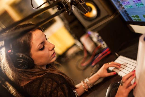Radio speaker stock photo