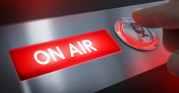 radio station, on air sign - on air stock photos and pictures