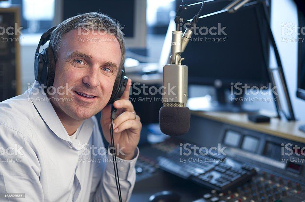 radio station presenter royalty-free stock photo