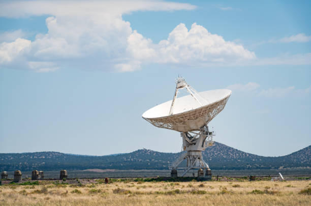 Radio Telescope at the Very Large Array stock photo