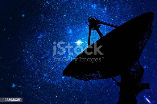 The Very Large Array (VLA) radio telescope in New Mexico, USA.