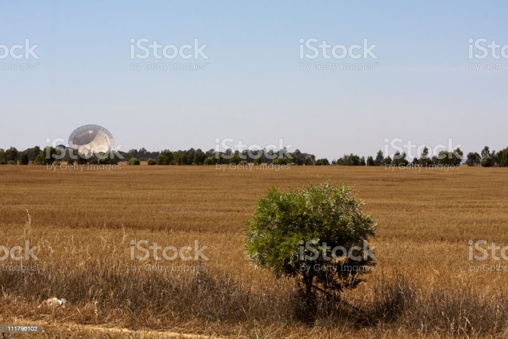 Radio telescope in Parkes, New South Wales, Australia stock photo