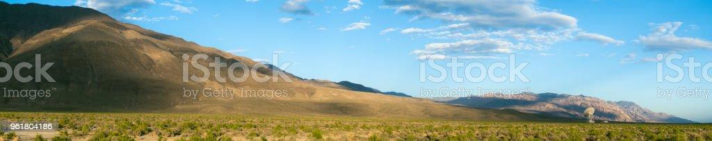Radio telescope in remote location stock photo