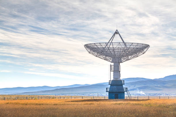 Radio telescope Radio telescope looking into the sky military base stock pictures, royalty-free photos & images