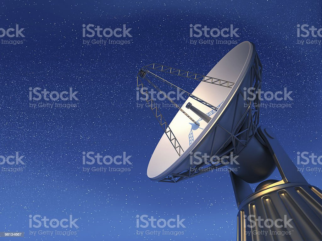 Radio telescope royalty-free stock photo