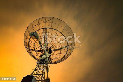 istock Radio telescope scene at night in China 638843106