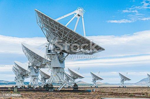 Very Large Array Radio Telescope in Socorro New Mexico.