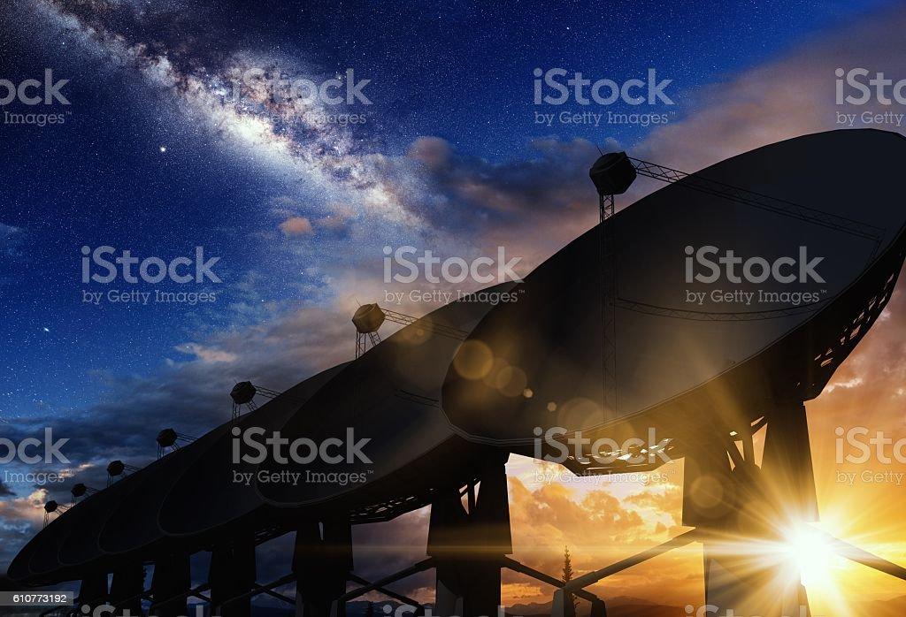 Radio Telescopes Concept stock photo