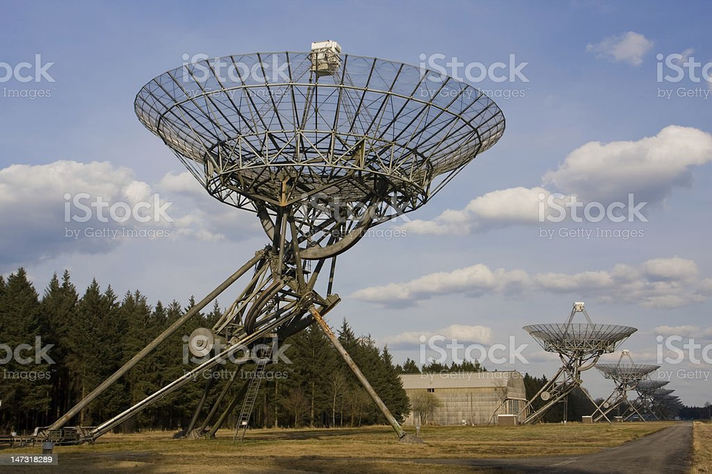 Radio Telescopes stock photo