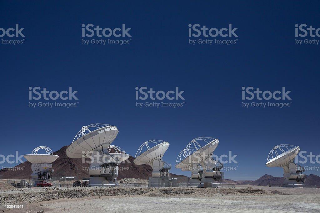 ALMA, Radio Telescopes stock photo