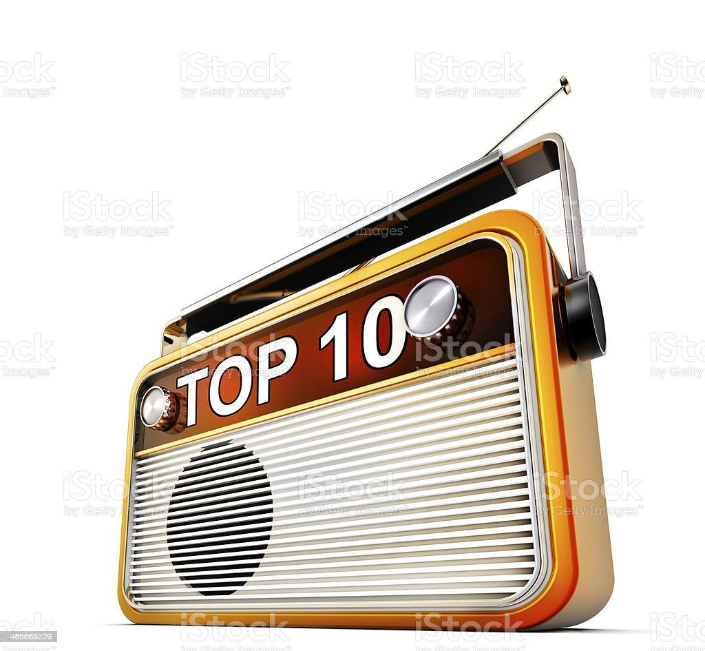 radio TOP 10 stock photo