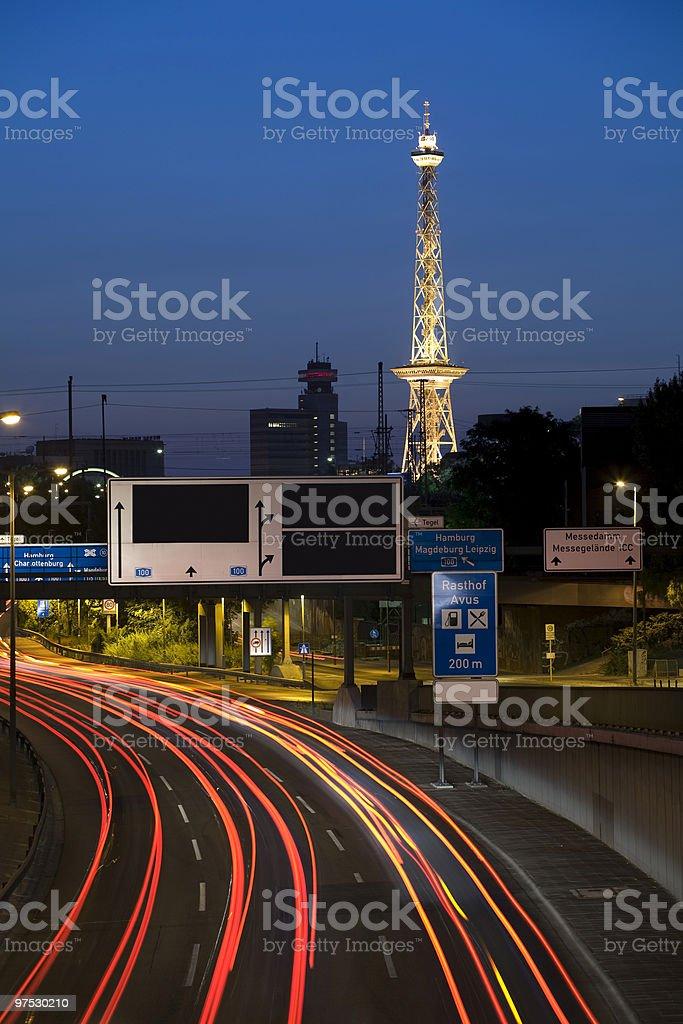 Radio tower in Berlin royalty-free stock photo