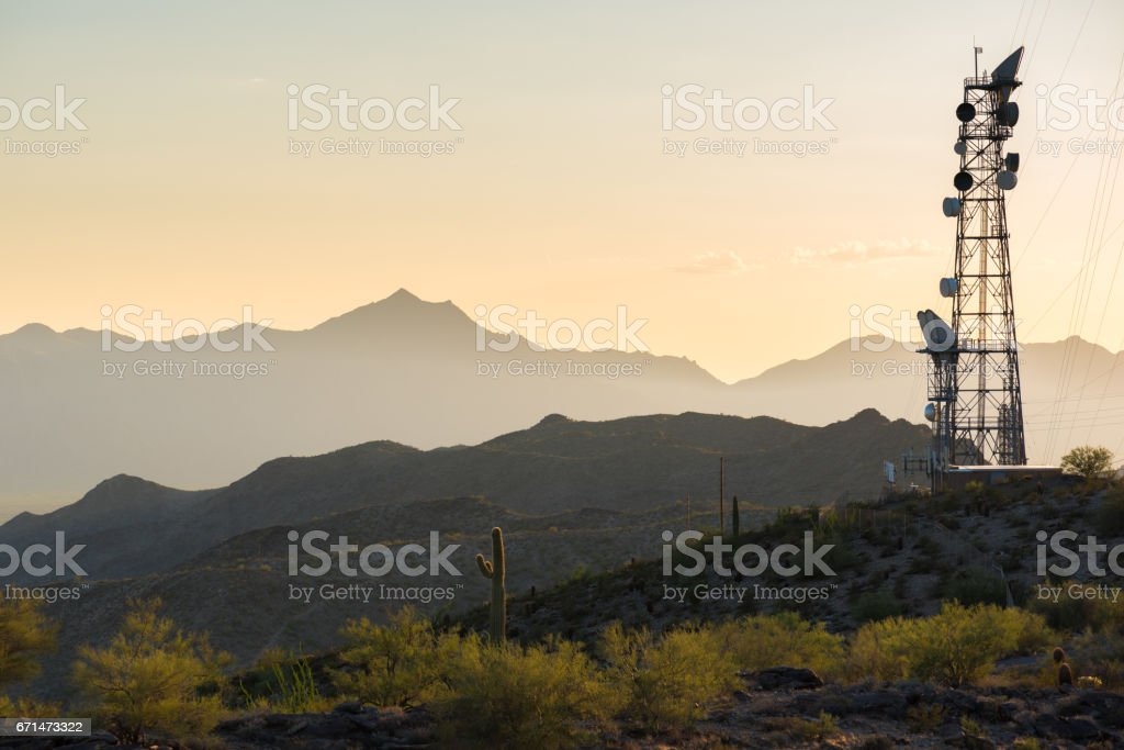 Radio Tower in the Desert - Photo