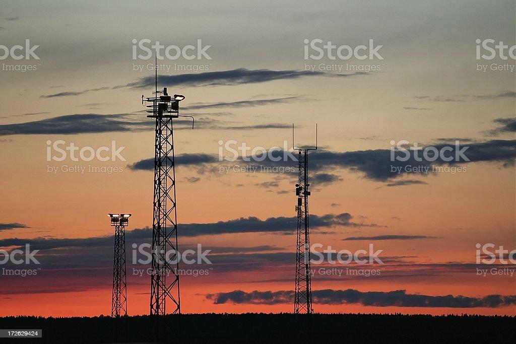 Radio / TV mast stock photo