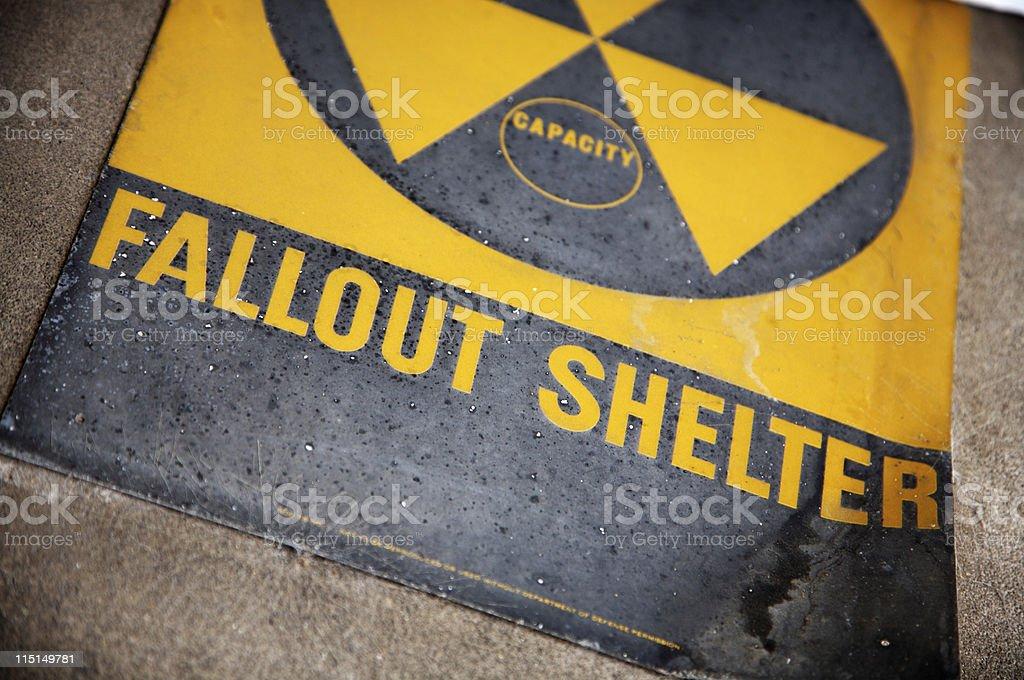 radioactive area fallout shelter stock photo