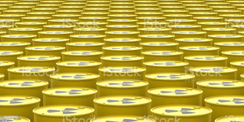 Radioactive Barrels Background stock photo