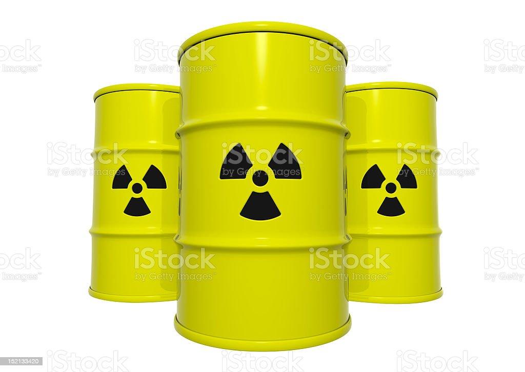 Radioactive Barrels stock photo