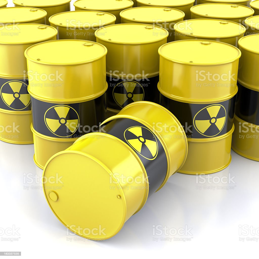 Radioactive Barrels royalty-free stock photo