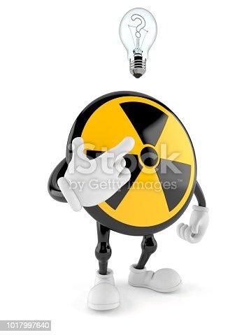 1048039800 istock photo Radioactive character having an idea 1017997640