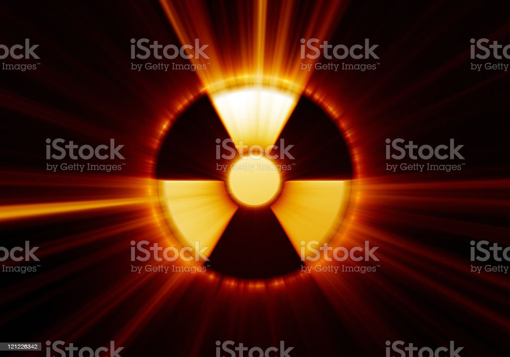 Radioactive danger symbol royalty-free stock photo