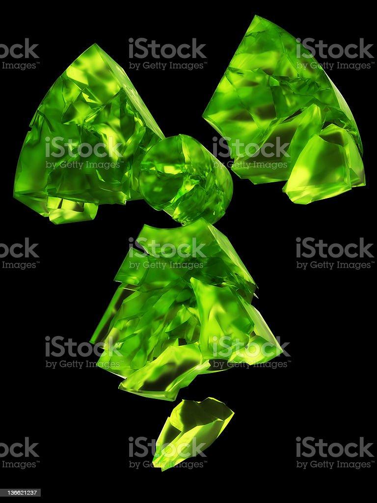 radioactive logo uranium glass royalty-free stock photo