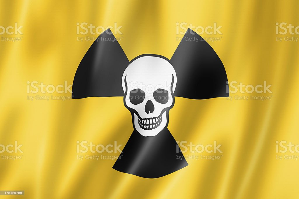radioactive nuclear symbol death flag royalty-free stock photo