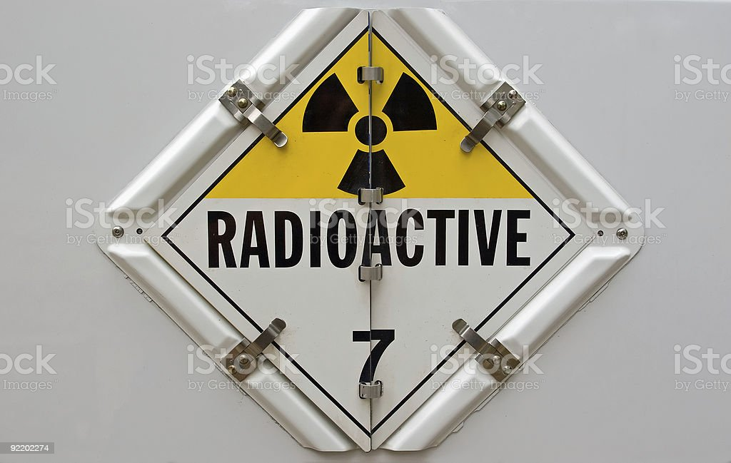 Radioactive Placard stock photo