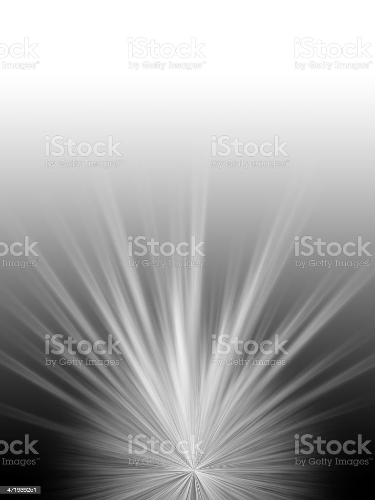 Radioactive rays on a black background stock photo