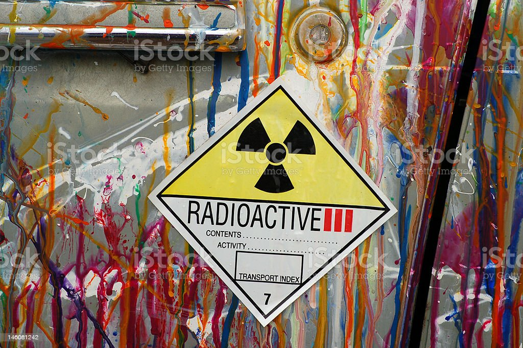 radioactive sign royalty-free stock photo