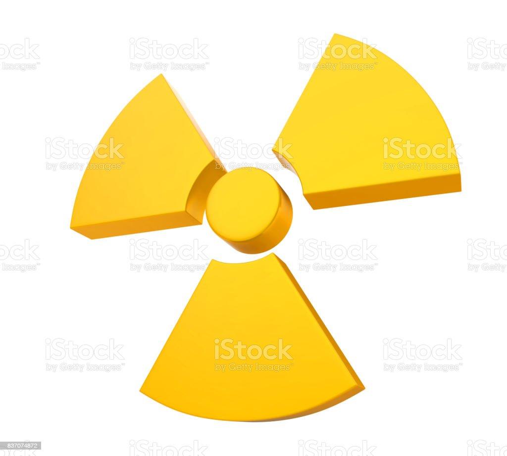 Radioactive Sign Symbol Isolated stock photo