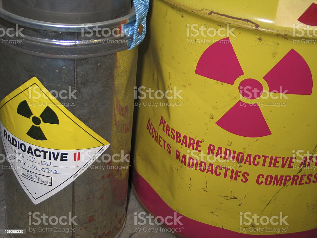 Radioactive waste royalty-free stock photo