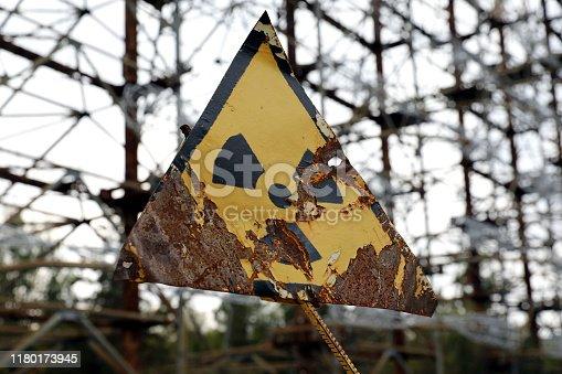 istock Radioactivity sign in Chernobyl 1180173945