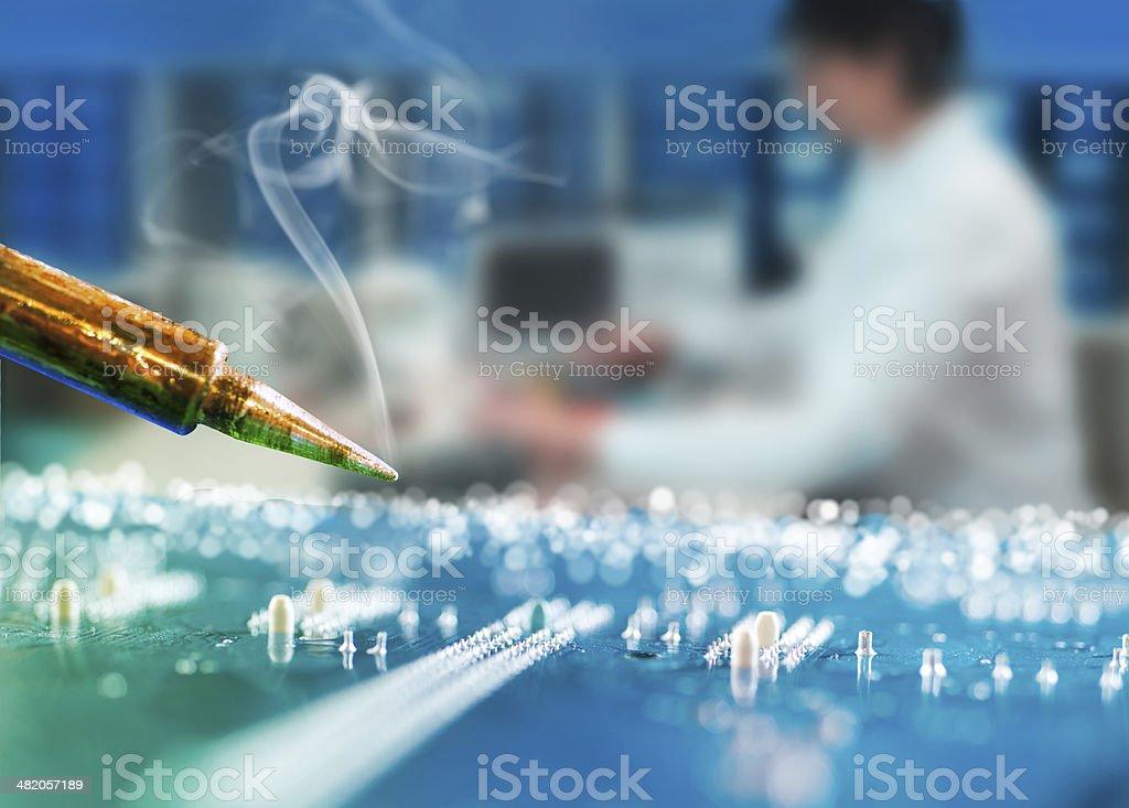 Radioelectronics repair background stock photo