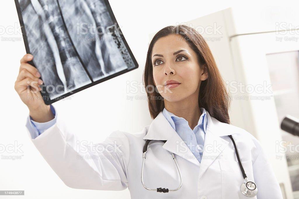 Radiology Looking at X-Ray Image royalty-free stock photo