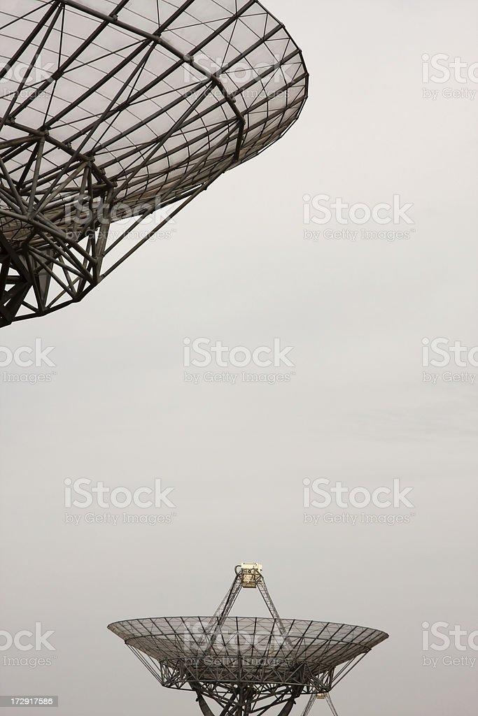 Radiotelescope antennas stock photo