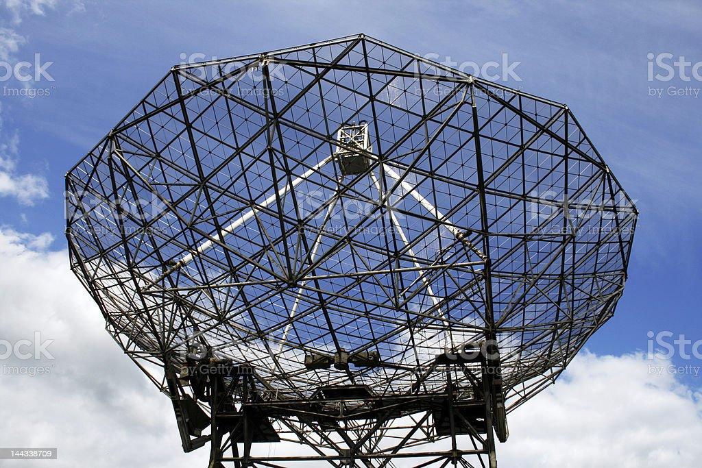 Radiotelescope stock photo