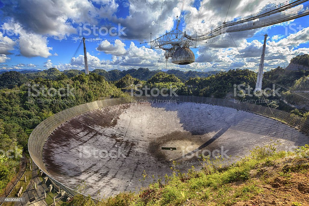 Radiotelescope stock photo